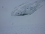 <p>Crevasse du glacier de l'Aiguille Rousse</p>