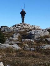 <p>Victor heureux au sommet</p>