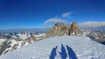 """<p>Du sommet, vue sur """"les Ailefroides"""" Orientales et Centrales                                                                                                                                                                                                                                                               </p>"""