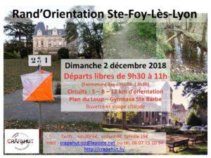 Rand'Orientation de Ste FOY lès LYON @ Gymnase Barlet