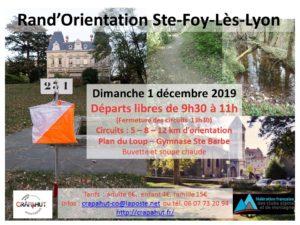 Rand'Orientation Ste-Foy-lès-Lyon @ Rand'Orientation Ste Foy Lès Lyon